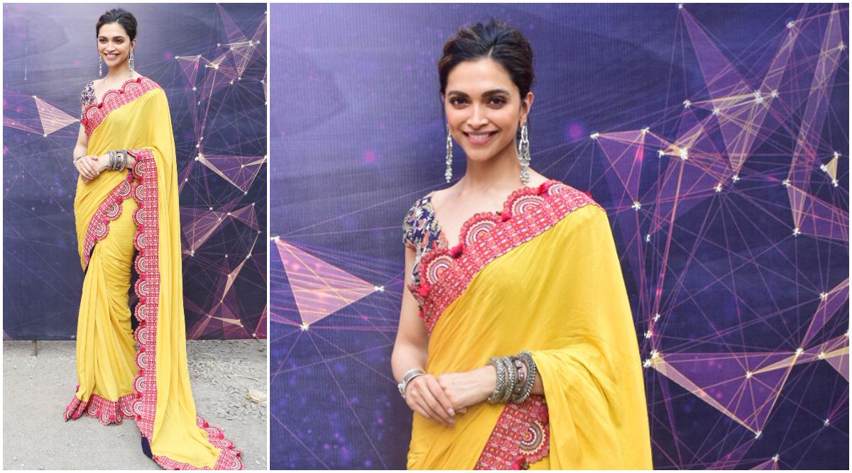 Deepika Padukone Stuns in a Gorgeous Yellow Saree and We ...