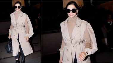 Deepika Padukone Slays in a Beige Trenchcoat At Her Recent Airport Outing and We Are Loving Her Diva Vibes (See Pics)