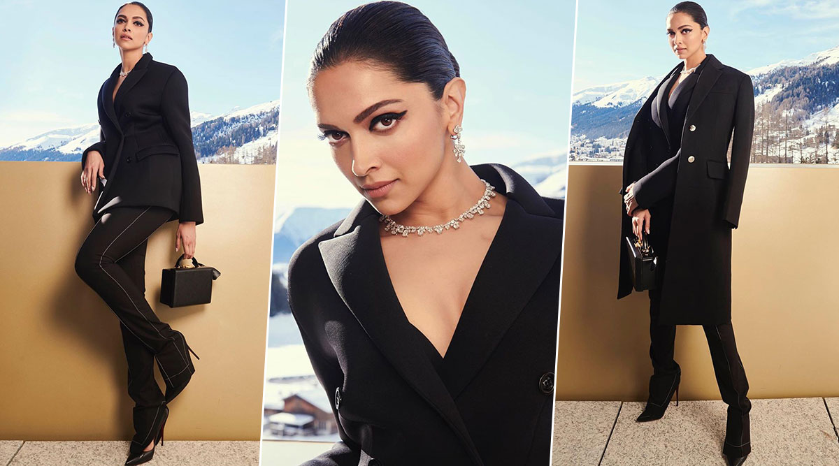 Deepika Padukone Has Her Winged Eyeliner On Fleek During the Latest Appearance at Davos 2020 (View Pic)