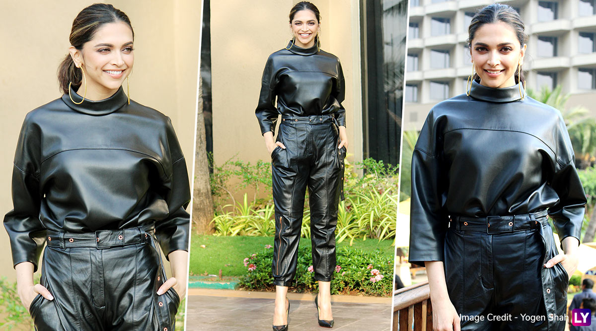 Deepika Padukone In An All-Leather Outfit Will Make You Sing 'Banno Tera Swagger Laage Sexy!' (View Pics)