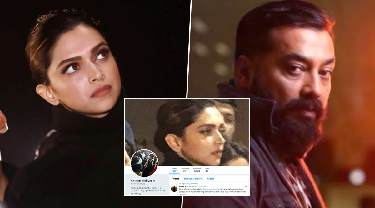 Anurag Kashyap Changes Twitter DP to Deepika Padukone's Pictures From JNU To Appreciate Her Stance