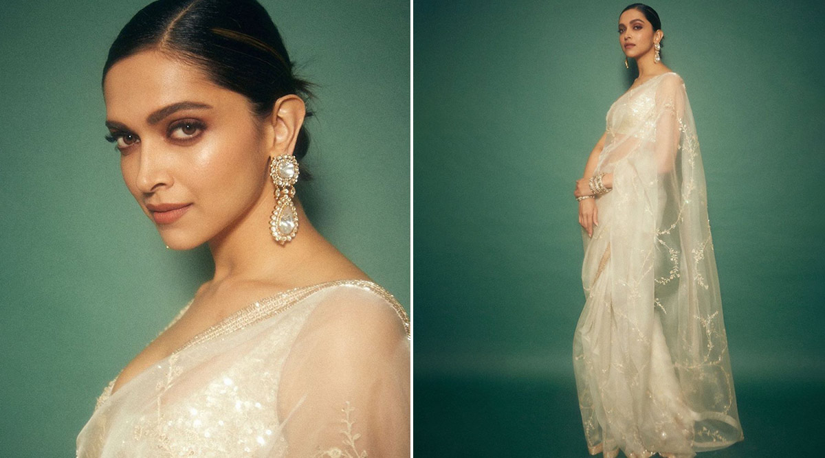 Deepika Padukone Spins an Elegant and Compelling Saree Story, This Time in an Ivory Sabyasachi!