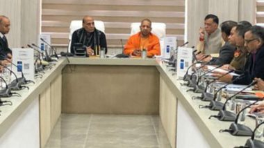 DefExpo 2020: Rajnath Singh and UP CM Yogi Adityanath Meet Officials Ahead of Mega Event Scheduled February 5-8