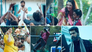 Pattas Trailer: Dhanush Shows Off His Kickboxing and Martial Arts Skills In The Action Entertainer (Watch Video)