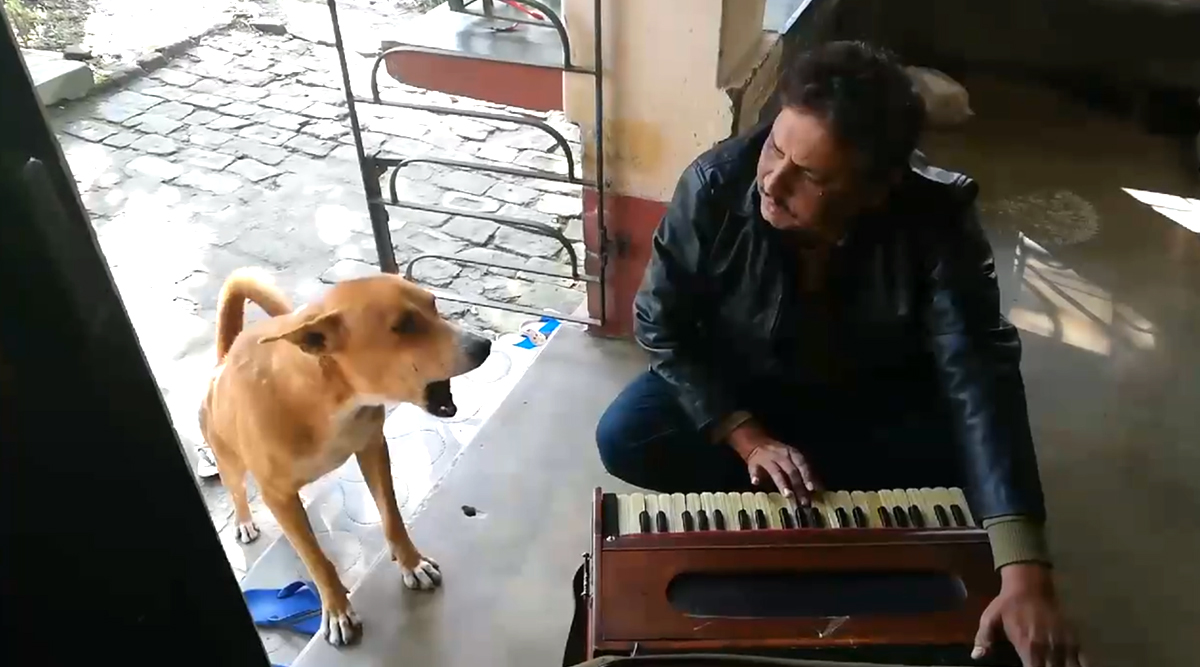 Dog Sings Ranu Mondal's 'Teri Meri Kahani' With Man, Viral Clip Impresses Netizens