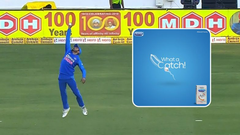 Manish Pandey Takes One-Handed Stunner! Durex Condoms Shares Funny Tweet Using Cricketer's Outstanding Effort During IND vs AUS 2nd ODI Match