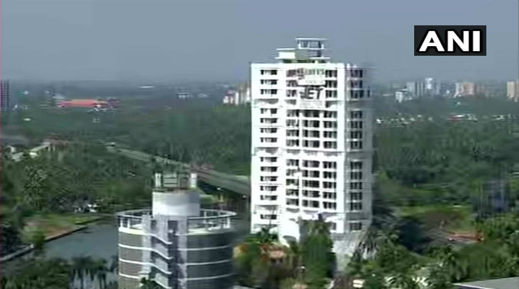 Kerala: Two Maradu Residential Apartments Set to Be Demolished in Gap of 5 Minutes (Watch Video)