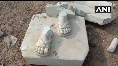 Mahatma Gandhi Statue Vandalised by Unidentified Persons in Gujarat's Amreli District