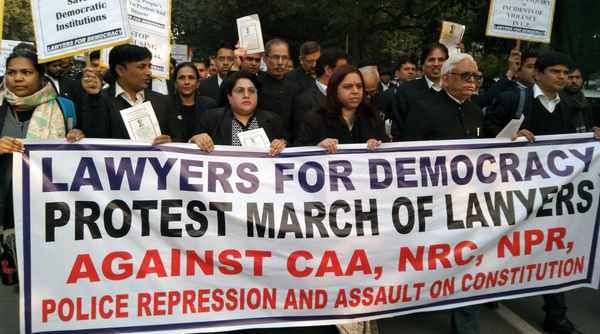 Supreme Court Lawyers Hold Protest March at Delhi's Jantar Mantar Against CAA, NRC