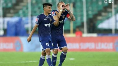 ISL 2019–20 Result: Chennaiyin FC Close Gap on Top 4 With Dominant 4–1 Win Over Jamshedpur FC