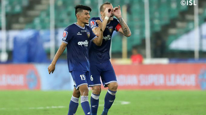ISL 2019-20 Match Result: Chennaiyin FC Hunt Down NorthEast United to Move up to Sixth