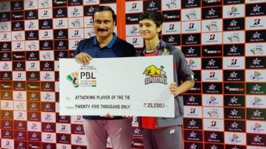 PBL 2020: Priyanshu Rajawat of Madhya Pradesh Impresses PV Sindhu on Premier Badminton League Debut