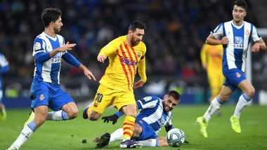 Lionel Messi's Crazy Dribble Nearly Pulls Off Jaw-Dropping Assist During Barcelona vs Espanyol La Liga 2019-20 Clash (Watch Video)