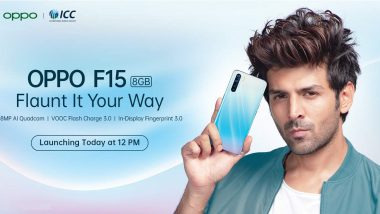 LIVE Updates: Oppo F15 Launched in India at Rs 19,990; Prices, Features, First Sale & Specifications