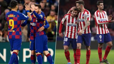 Barcelona vs Atletico Madrid, La Liga 2019–20 Free Live Streaming Online & Match Time in IST: How to Get Live Telecast on TV & Football Score Updates in India?