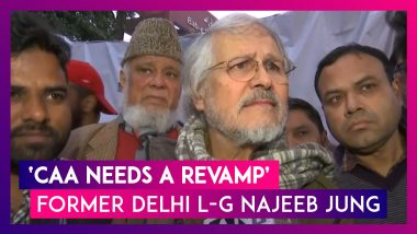 Citizenship Amendment Act (CAA) Needs A Revamp: Former Lieutenant Governor Of Delhi Najeeb Jung