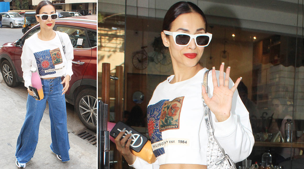 Malaika Arora Makes a Case for Cropped Sweatshirt and Flared Denim Fabulously!