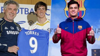 January Transfer Window Deadline Day: From Fernando Torres' Chelsea Move to Philippe Coutinho's Barcelona Deal, Here Are Some Top Last Day Football Transfers