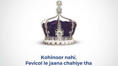 'Kohinoor Nahi, Fevicol Lejana Chahiye Tha': Adhesive Brand Takes a Satirical Dig at 'Megxit' with a Witty Tweet