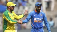 AUS 173/4 in 32 Overs | India vs Australia Live Score 3rd ODI 2020: Ravindra Jadeja Dents Visitors With Quick Strikes