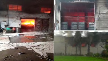 Punjab: Massive Fire Breaks Out at Cycle Factory in Ludhiana, 12 Fire Engines Reach Spot