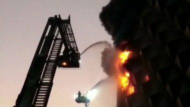 Surat Fire: Massive Blaze Engulfs Raghuvir Textile Market, 57 Fire Tenders at Spot