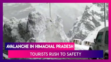 Tourists Rush To Escape Avalanche In Himachal Pradesh; Act Caught On Camera