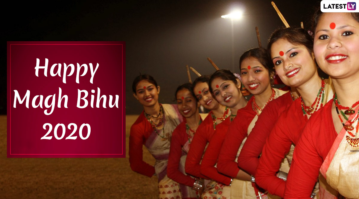Magh Bihu 2020 Images & HD Wallpapers For Free Download Online: Wish Beautiful Bihu Pictures and WhatsApp Stickers to Wish on Assam's Harvest Festival