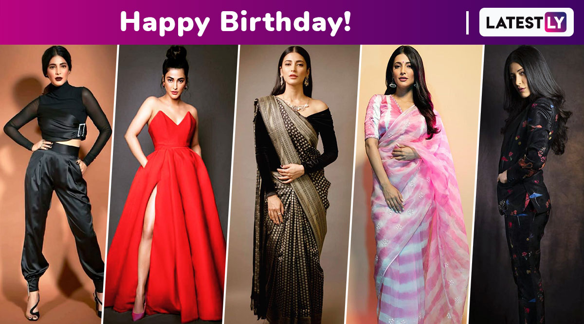 Happy Birthday, Shruti Haasan! A Style Capsule of All the Times When the Grunge Girl Turned Into a Glam Goddess!