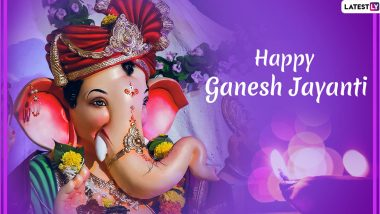 Maghi Ganesh Jayanti 2020 Greetings and Images: WhatsApp Stickers, Hike GIF Messages And SMS to Wish on The Festival