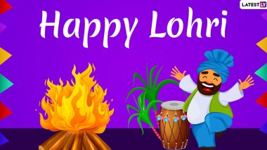 Happy Lohri 2020 Greetings: WhatsApp Stickers, GIF Images, Photos, SMS and Messages to Wish on Punjabi Harvest Festival