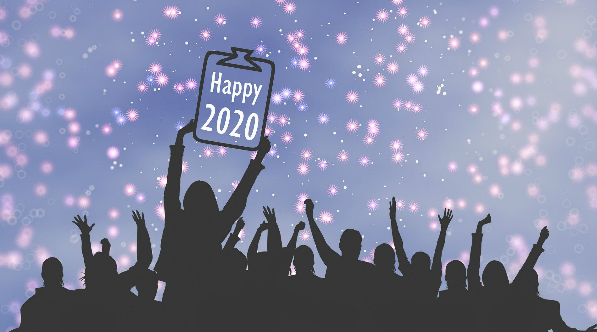 Happy New Year's Day 2020 HD Images & Good Morning Messages: Free Wallpapers to Download and Wish on January 1 With WhatsApp Stickers, Greetings & Hike GIFs