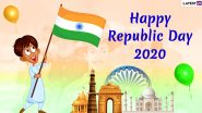 India Republic Day 2020 Wishes And Messages in English And Hindi: WhatsApp Stickers, Facebook Greetings, GIF Images, Quotes And SMS to Send on January 26