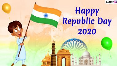 India Republic Day 2020 Images & Wishes in English And Hindi: WhatsApp Stickers, HD Wallpapers, Facebook Greetings, GIF Images, Quotes And SMS to Send on January 26