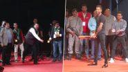 Hardik Pandya Plays Cricket With Union Minister Nitin Gadkari & Former Maharashtra CM Devendra Fadnavis at Khasdar Krida Mahotsav 2020 (Watch Video)