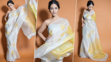 Draped in a Chiffon Saree, Hina Khan Channelises Her Inner Yash Raj Heroine at the Lions Gold Awards 2020 (View Pics)