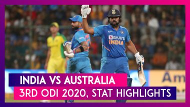 IND vs AUS Stat Highlights, 3rd ODI 2020: Virat Kohli, Rohit Sharma Help India Win Series