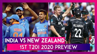 IND vs NZ, 1st T20I 2020 Preview: India, New Zealand Eye Early Lead in Five-Match Series
