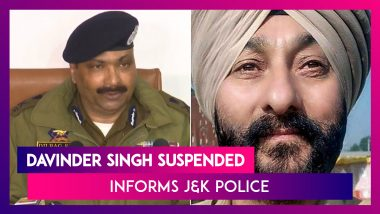 J&K Police Suspends Davinder Singh Over Terror Links, Recommends His Sacking To Government