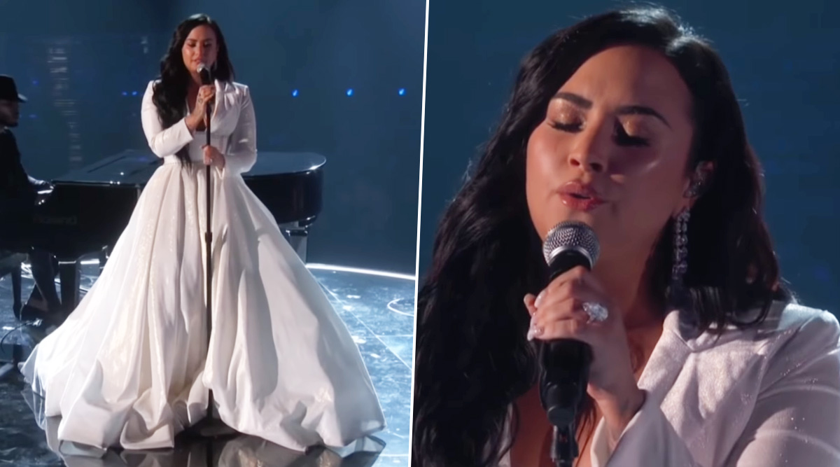 Grammys 2020: Demi Lovato Gets Standing Ovation for Performing Her New Song 'Anyone' (Watch Video)