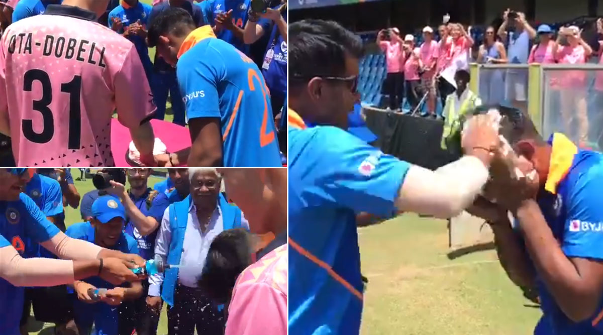 Under-19 India and Japan Teams Celebrate Dhruv Jurel and Kento Ota-Dobell's Birthdays Together Post World Cup Match, Win Hearts (Watch Video)