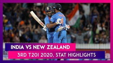 IND vs NZ Stat Highlights 3rd T20I 2020: India Win Super Over, Seal Maiden T20 Series In New Zealand