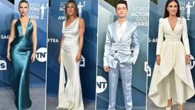 SAG Awards 2020 Best Dressed: Scarlett Johansson, Jennifer Aniston, Noah Schnapp and Millie Bobby Brown Make Stunning Appearances (See Pics)