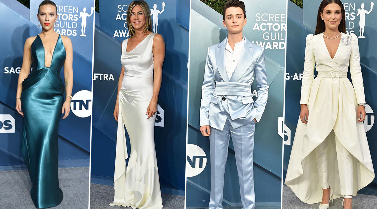 SAG Awards 2020 Best Dressed: Scarlett Johansson, Jennifer Aniston, Noah Schnapp and Millie Bobby Brown Make Stunning Appearances (See Pics)