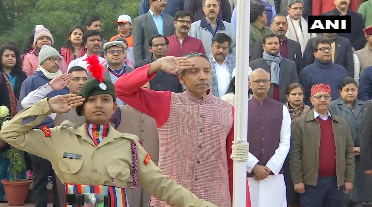Republic Day 2020: First-Ever Girls' Cadet Contingent in JNU Present Guard of Honour to V-C M Jagadesh Kumar