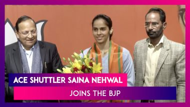 Saina Nehwal, Badminton Ace Joins Bharatiya Janata Party Along With Sister Abu Chandranshu Nehwal