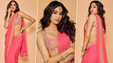 Janhvi Kapoor is Exuding all the 'Desi Girl Vibes' in this Simple and Stunning Arpita Mehta Creation (View Pics)