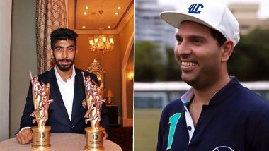 'Jassi Has De Thoda' Yuvraj Singh Hilariously Trolls Jasprit Bumrah After the Pacer Shares Picture With Polly Umrigar and Dilip Sardesai Trophies