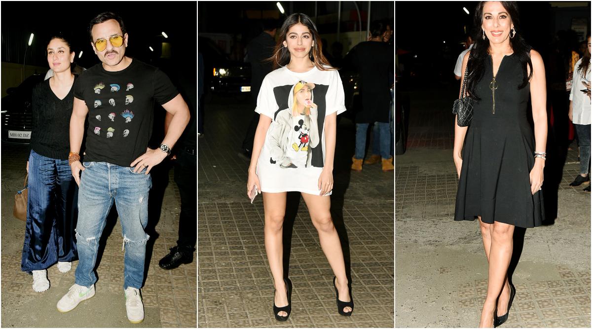 Jawaani Jaaneman: Kareena Kapoor Khan Accompanies Saif Ali Khan, Alaya F Joined by Mom Pooja Bedi at the Special Screening (View Pics)