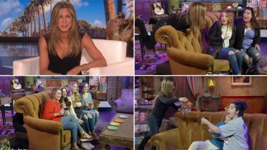 Jennifer Aniston Turns Into 'Rachel' and Surprises FRIENDS Fans on Central Perk Sets! (Watch Video)